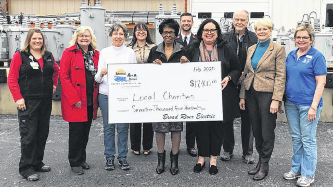 Broad River Electric Cooperative Distributed $17,500 to 9 Organizations